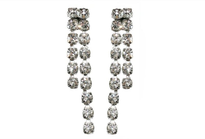 double strand swarovski crystal earrings