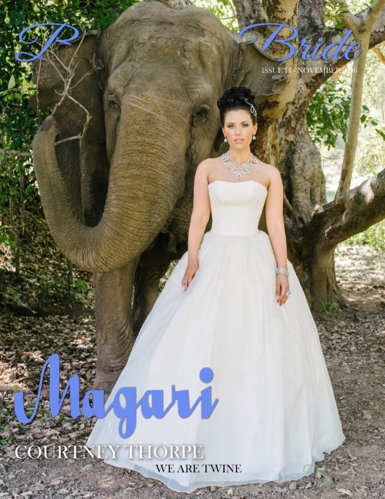 Bellissima Bridal Magazine, Darb Bridal Couture, Colin Heany Resort Wear,magazine cover, Redki, Handmade Jewellery, magazine feature, New York Magazine, Fashion, Style, Jewlry, Jewellery, Crystals, Elephant, model, Courtney Thorpe, Miss World Australia