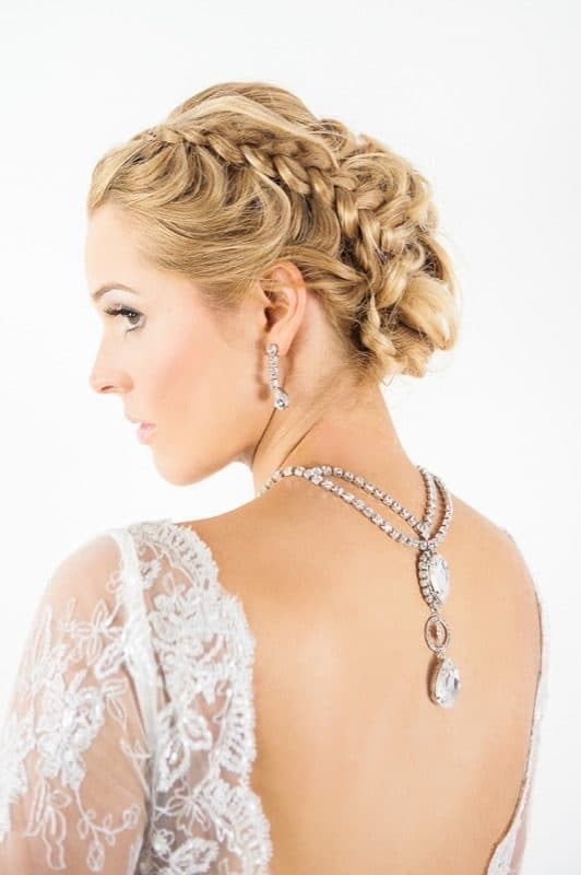 Allure Crystal Back Necklace Bridal