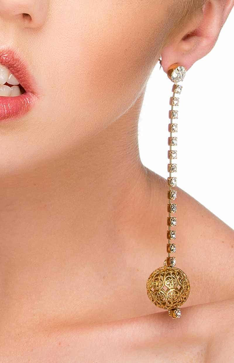 GOLD FILLIGREE LONG DROP EARRINGS, FASHION EARRINGS, BOHO BRIDAL GOLD EARRINGS