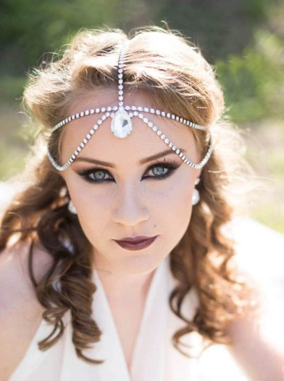 crystal hairpiece, boho hairpiece, swarovski crystal circlet tiara, swarovski crystal headpiece, statement crystal headband
