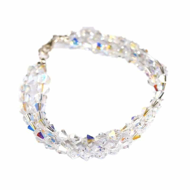 Silk Crystal Clear AB Bracelet