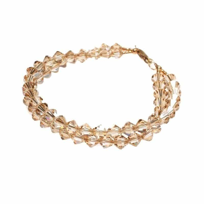 Silk Crystal Golden Shadow Bracelet
