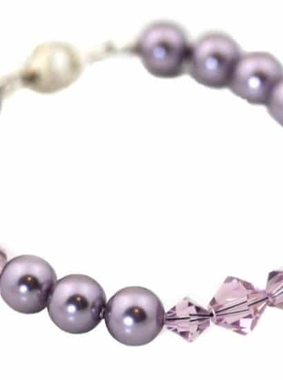 Silk Purple Pearl Bracelet