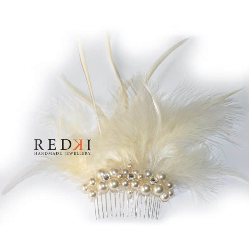 Joy Feather Pearl Hairpiece – Creme Pearl
