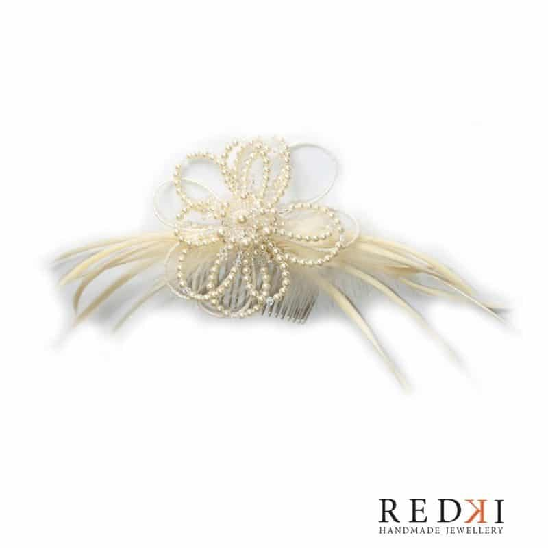 Joy Feather Flower Pearl Hairpiece