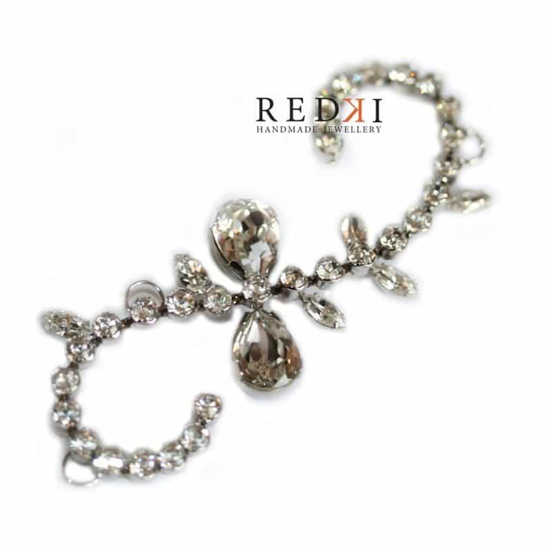Gatsby Crystal Small Scroll Hairpiece