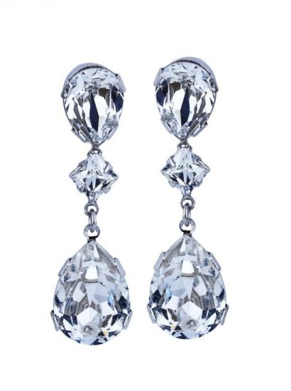 Allure Crystal Tear Drop Earrings