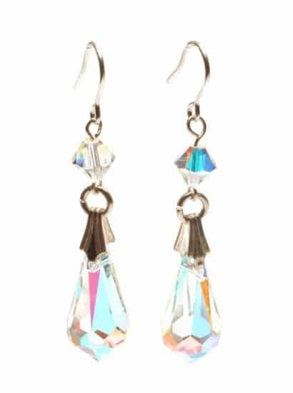 Silk Teardrop Long Earrings