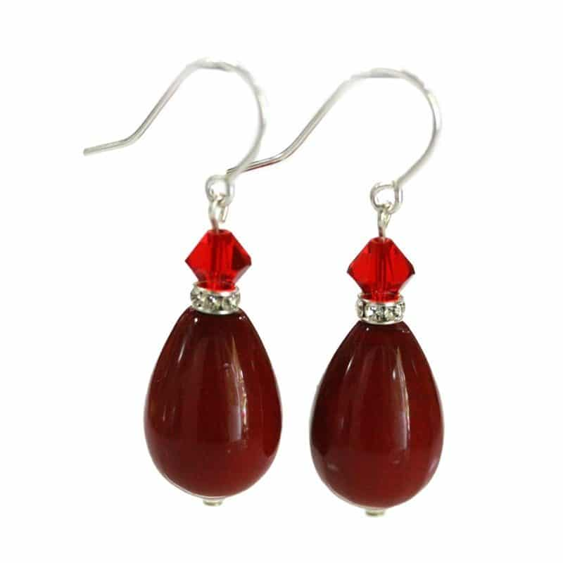 Venus Red Drop Earrings