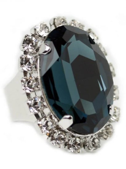 Must have Ring - Navy/Montana Crystal Ring