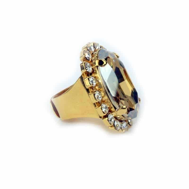 Must have Ring - Golden Crystal Ring