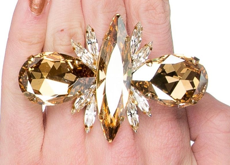 Glam Statement Ring - Gold