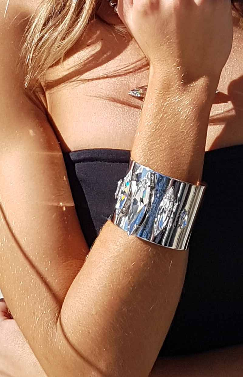 Cuff bracelet, silver cuff bracelet, rhodium plated cuff bracelet, 5cm wide silver cuff bracelet, swarovski crystals wide cuff bracelet, statement cuff bracelet, Fashion bracelet Sydney, Fashion bracelet Melbourne, Fashion bracelet vintage, Fashion bracelet Melbourne, gold Fashion bracelet, silver Fashion bracelet, Swarovski crystal Fashion bracelet, Fashion bracelet online, statement Fashion bracelet, Fashion bracelet gold crystal for bridesmaids, silver bracelet for bridesmaids, modern Fashion bracelet, custom made Swarovski crystal Fashion bracelet, handcrafted Fashion bracelet, plus size Fashion bracelet, Fashion bracelet swarovski crystal, Fashion bracelet gold, bridal Fashion bracelet after pay, Fashion bracelet adelaide, Fashion bracelet gold, Fashion bracelet silver, Fashion bracelet australia, Fashion bracelet swarovski crystal, swarovski crystal Fashion bracelet teardrop, swarovski crystal Fashion bracelet oval, handcrafted Fashion bracelet Brisbane Australia