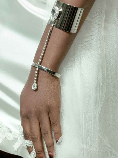 B007RCL Hold Me Tight Cuff Bracelet, Swarovski Crystal cuff, Redki Couture Jewellery