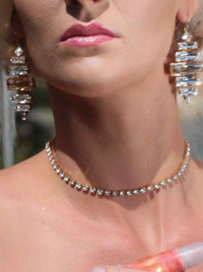 Rules Crystal Choker Gold Necklace
