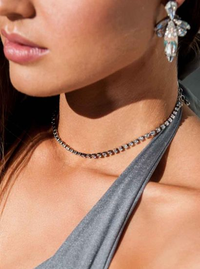 Rules Crystal Choker Silver Necklace, silver Choker Silver Swarovski Crystal Necklace, swarovski crystal silver Choker Necklace, empowered Choker necklace, Choker necklace with meaning, handcrafted Choker necklace, fashion Choker necklace, chocker 34cm long, handmade by Redki - Couture Jewellery, handmade in Australia, wedding necklace, bridal necklace, bride wedding crystal Choker necklace
