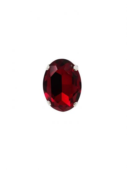 red swarovski crystal statement ring, red 3cm crystal ring, red fashion ring, red formal ring