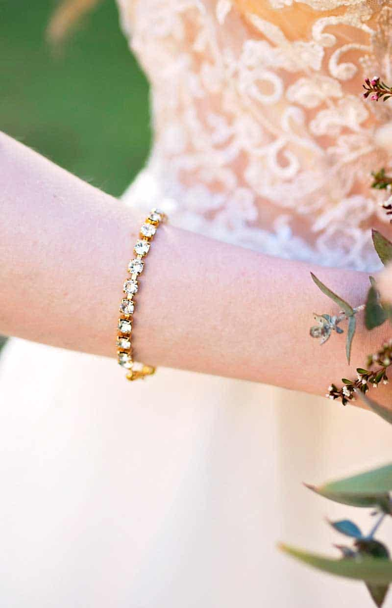 "Gold swarovski crystal bridal bracelet for weddings, BRIDAL BRACELET, SWAROVSKI CYRSTAL BRIDAL BRACELET, HANDMADE BRIDAL BRACELET, Passionate 5 strand Gold Swarovski Crystal Bracelet, Gold 5 strand Silver Swarovski Crystal Bracelet, swarovski crystal Gold bracelet, 4cm wide Gold cuff bracelet, 1.5"" wide silver 5 strand cupchain bracelet, empowered bracelet, bracelet with meaning, handcrafted tennis bracelet, fashion bracelet, handmade by Redki - Couture Jewellery, handmade in Australia, wedding bracelet, bridal bracelet, bride wedding crystal bracelet, plus size bracelet, plus size jewellery"