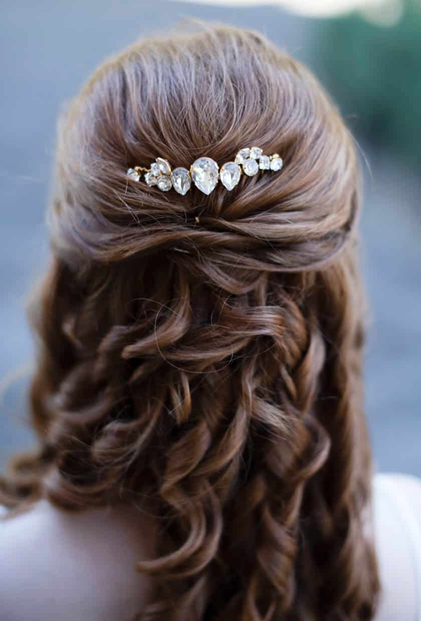bridal hair pieces, shop wedding hair piece, bridal crystal hairpiece, swarovski crystal hairpiece
