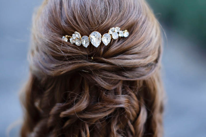BRIDAL CRYSTAL HAIRPIECE, REDKI COUTURE JEWELLERY, swarovski crystal hairpieces