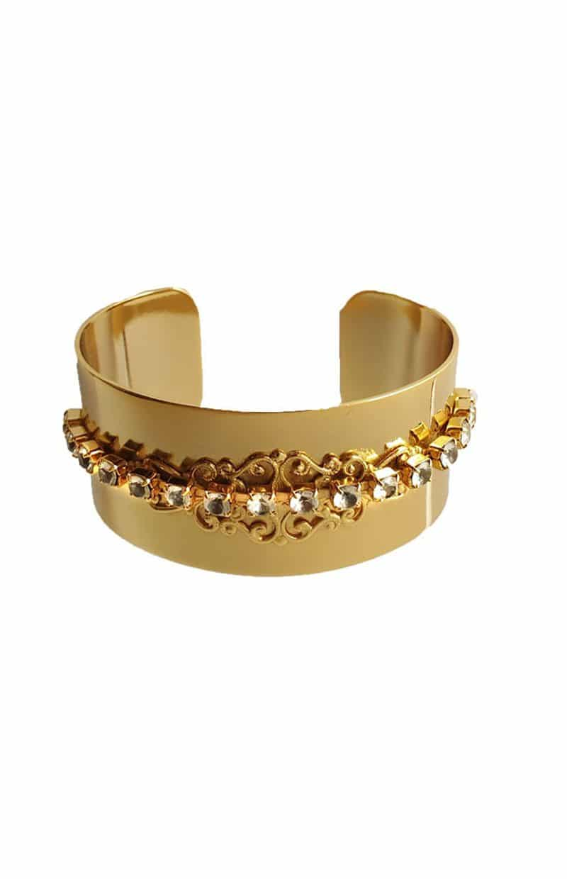 B079RCL_2 Nightfall cuff bracelet gold, Redki Couture Jewellery