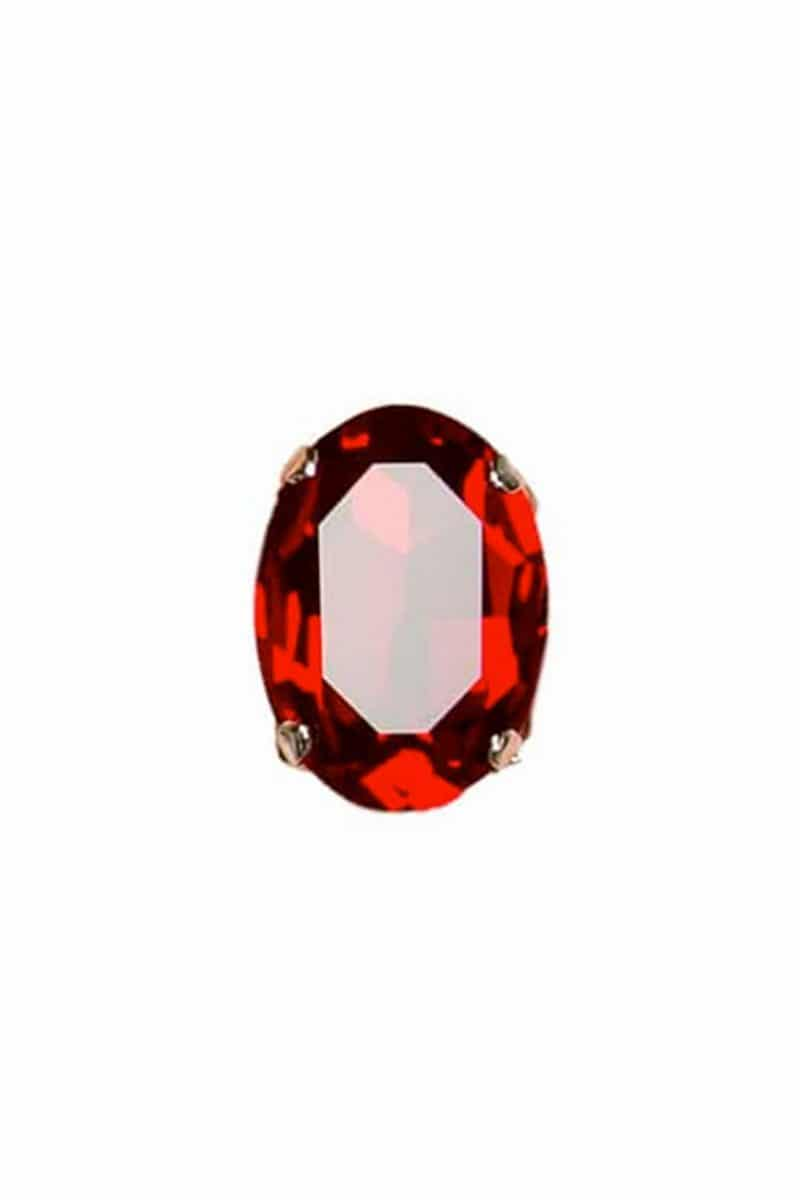 red swarovski crystal statement ring 3cm, Redki Couture Jewellery