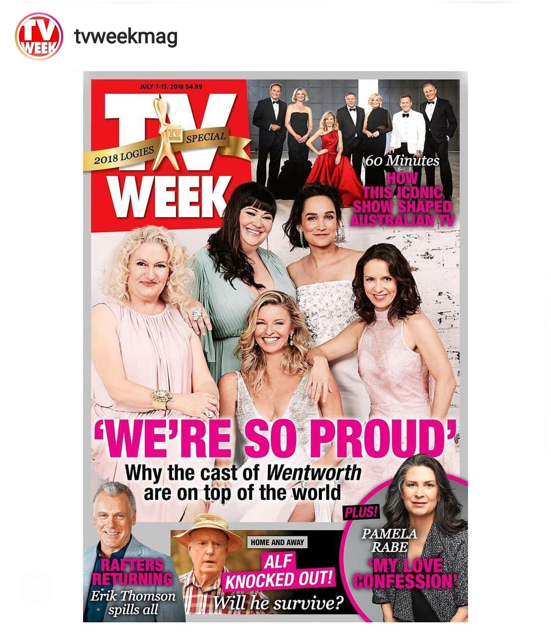 Congratulations to the amazing cast of Wentworth, in the photos are Celia Ireland, Sigrid Thornton, Katrina Milosevic, Kate Jenkinson, featured in TV Week photoshoot.